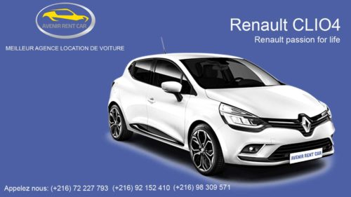 location Renault CLIO 4 Tunisie